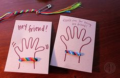 friendship bracelet cards