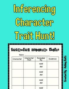 FREE! Character Trait Hunt