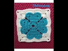 How to Crochet a Square with Hearts Pattern #12│by ThePatterfamily