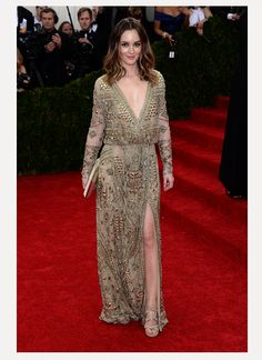 Leighton Meester in Emilio Pucci at the 2014 Met Gala