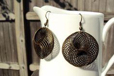 large spiral earrings