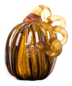 Look at this #zulilyfind! Stripe Glass Pumpkin #zulilyfinds