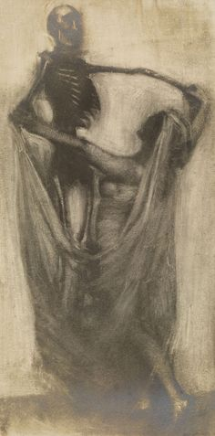 Woman Dancing with a SkeletonFranz Fiedler