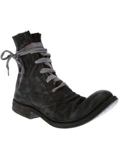 A Diciannoveventitre - distressed leather ankle boot 1