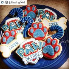 Genial idea para aperitivo de una fiesta de cumpleaños de Paw Patrol.