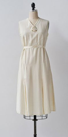 Champagne Elegance Dress / vintage 1920s 30s dress / silk 20s dress