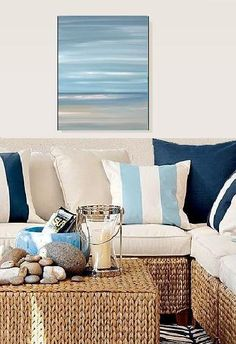Beach ocean blue, abstract seascape I want a similar painting!!!