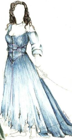 """Concept art for Una (Kate Magowan) in """"Stardust"""" (2007)."""