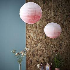 Mes luminaires boules japonaises tie and dye