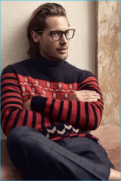 James Rousseau charms as the face of Salvatore Ferragamo's fall-winter 2016 eyewear campaign.