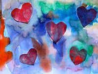 Read The Day It Rained Hearts and then do this beautiful art lesson. Possible valentine project