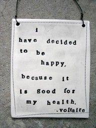 happy = good health!