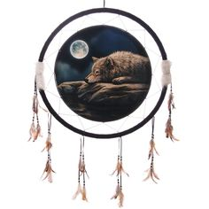 Quiet Night of the Wolf 60cm Dreamcatcher - Decorative Quiet Night of the Wolf 60cm DreamcatcherDreamcatchers are a great way to add colour and design to your home or workplace.
