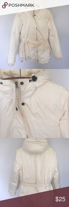 Lands' end puffer Heavy lands end puffer. Great for super cold days. Cream color. Lightly used Lands' End Jackets & Coats Puffers