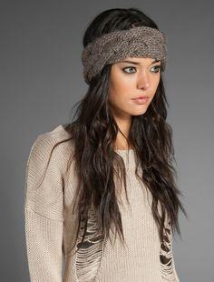 anthropologie inspired braided headband {free knit pattern}