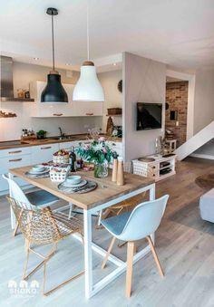 decordemon: Cozy house in Poland by architecture studio Shoko design - Interior Ideas Home Interior, Kitchen Interior, Kitchen Decor, Interior Decorating, Interior Design, Kitchen Layout, Decorating Ideas, Sweet Home, Scandinavian Living