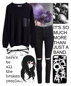 """""""Not much of a life you're livin"""" by the-pretty-careless ❤ liked on Polyvore featuring H&M and Murati"""