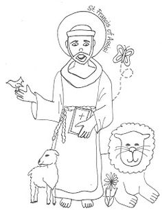 Look to Him and be Radiant: Saints Coloring Pages- St. Francis of Assisi