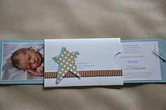 Birth announcement design idea. A bookmark could make a unique announcement too. [faire-part naissance]
