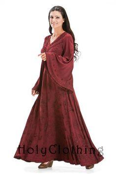 Alyssa Bell Sleeve Gothic Victorian Empire Butterfly Vtg Dress - Dresses