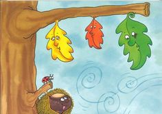 "E.I. 3 AÑOS A: ""OSITOS"": CUENTO: ""LAS TRES HOJITAS"" Autumn Activities For Kids, Preschool Activities, Class Tree, Teacher Cards, Autumn Forest, Baby Learning, Baby Crafts, Kids Education, Winnie The Pooh"