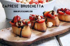 Superbowl Food. Caprese Bruschetta | My Life as a Mrs