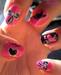 playboy bunny nails   #Nails