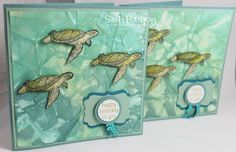 Stampin' Sarah!: A From Land to Sea Turtle Trio from Stampin' Up! UK Demonstrator Sarah Poulton