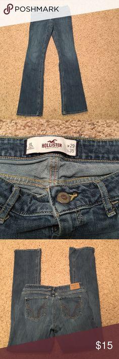 Hollister California jeans size 9 long w29 L 35 Hollister California jeans size 9 long in great condition Hollister Jeans Straight Leg
