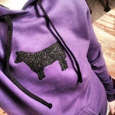 Stock Show Hoodie Bling steer pig lamb goat by StockyardBling