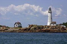 Boston Light, on Little Brewster Island, Boston Harbor, Massachusetts. For more, see lighthouse.cc/boston/ Image 135_3526adj