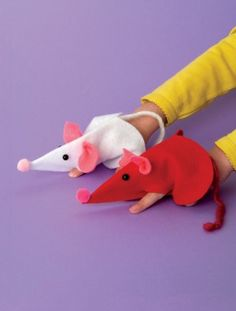Two fun Valentine's crafts for kids: Mice Guys and Puppy Love