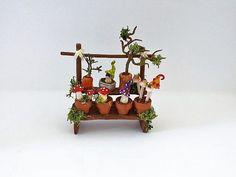 Figuren - Wichtel Tisch Pilze - ein Designerstück von kleineBastelelfe bei…