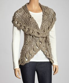 Oatmeal Link Knit Wool-Blend Sweater Vest