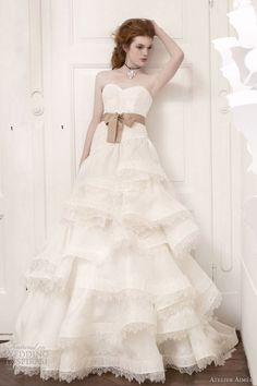 atelier aimee 2013 strapless gown lace tier skirt