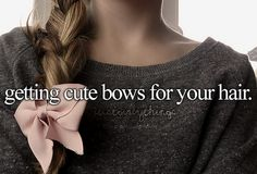 I love bows, if I had enough I would wear one everyday.