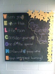 Beginning of the year bulletin board via The Mailbox on Back to School Teaching Ideas