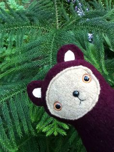 Radish the Cuddle Bear // upcycled wool bear cub // by sarahbrown, $22.50