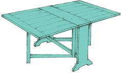 The Dinner Party--society social custom gateleg table Vintage Furniture, Diy Furniture, Furniture Design, Contemporary Kitchen Tables, Puzzle Table, City Living, Furniture For Small Spaces, Diy Table, Dinner Table
