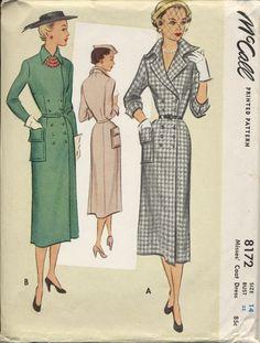 Abito elegante cappotto montato, modello degli anni cinquanta, McCall, formato 14 di PennyPaperCompany su Etsy https://www.etsy.com/it/listing/226300496/abito-elegante-cappotto-montato-modello