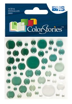 Colorstories Epoxy Color Spots Stickers (Set of 4)