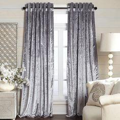 Metallic Velvet Curtain - Silver | Pier 1 Imports