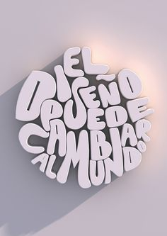 Afiche tipográfico by Natasha Sandoval in Showcase of Stylish Typography
