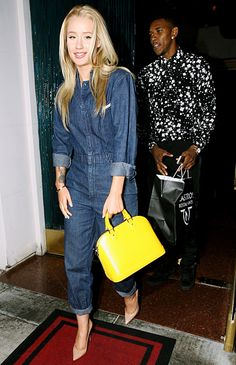 Such a chic couple! Iggy Azalea and boyfriend Nick Young grabbed grub at Mastro's Steakhouse in Beverly Hills.