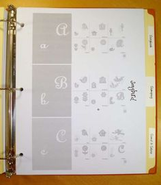 Scraproom: Cricut Cartridge Cheat Sheets - Example 1