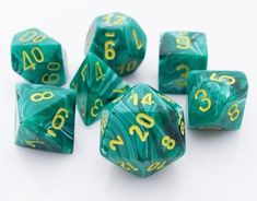 Be the hero of your next RPG adventure with a set of Vortex Dice (Malachite...
