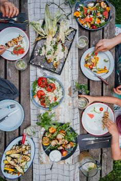 A vibrant end of summer feast - Simple Bites Outdoor Dinner Parties, Seasonal Food, Feeding A Crowd, Dinner Is Served, Pork Ribs, Savoury Dishes, End Of Summer, Summer Recipes, Food Inspiration