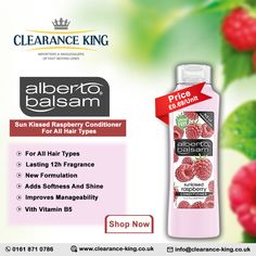 Household Products, Sun Kissed, Hair Conditioner, Hair Type, Cleanse, Raspberry, Vitamins, Fragrance