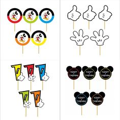 Mickey Mouse Party Sticks