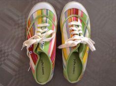 Tommy Hilfiger Shoes 8.5M Womens Striped Sneaker Slides #TommyHilfiger #Slides